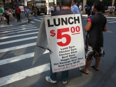 $5 lunch truck sign