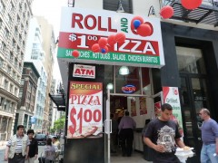 Roll And Go pizza sign