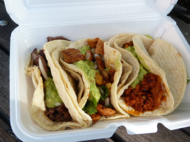 Tacos from Shorties Deli downtown. Photo by Andrea.