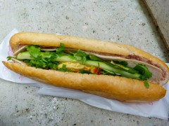 pork and egg banh mi