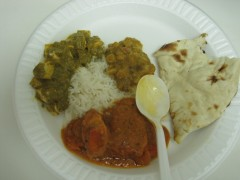 Bhatti plate of food