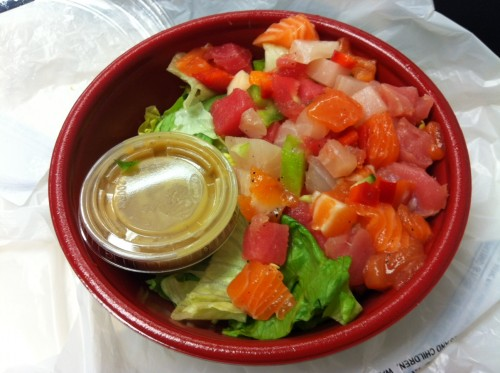 A look at the grand opening of cafe today midtown lunch for Sashimi dressing