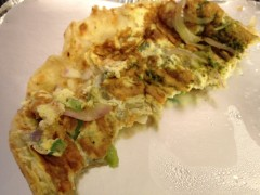 Desi Galli omelette roll detail
