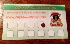 comme ci comme ca loyalty card