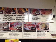 Great Burrito menu 2