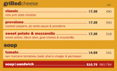 'wichcraft Grilled Cheese & Soup Menu