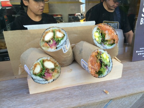 their specialty are sushi burritos which screamed gimmick to me im sure the company would love this to be the next cronut but the truth is the hybrid - Hai Street Kitchen