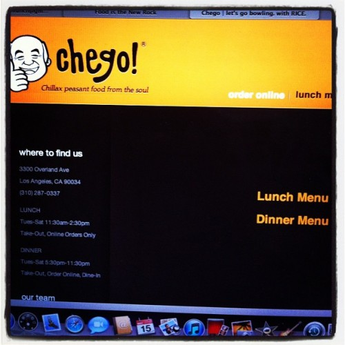 Chego lunch launches today and here is your first look for Chego los angeles