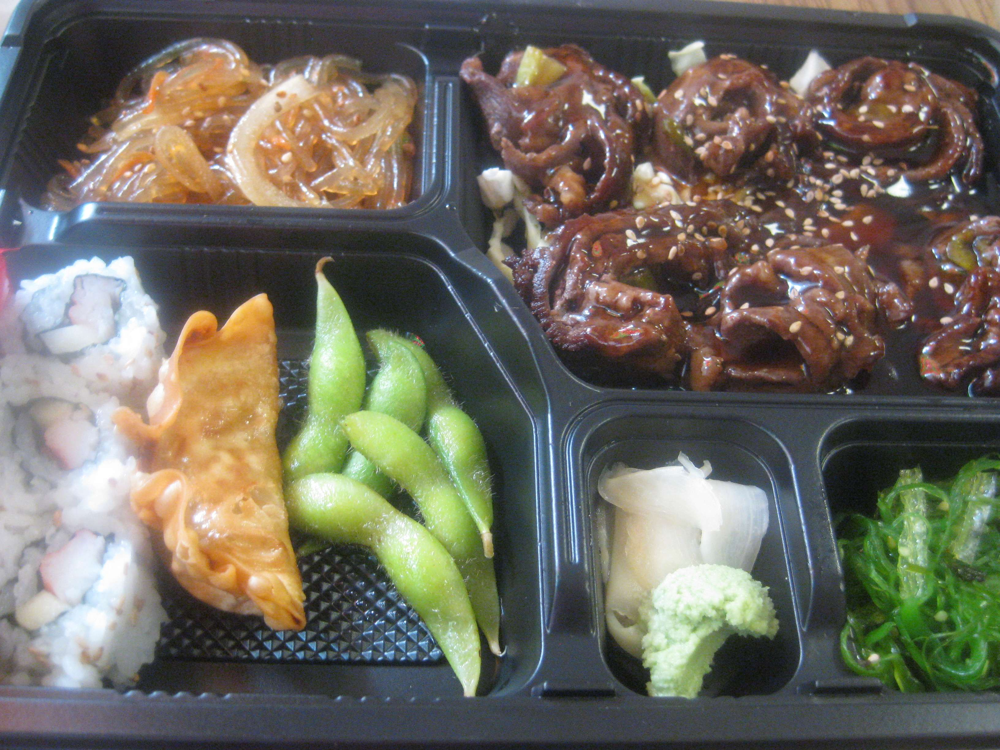beef negimaki bento box at misora express when i am ok with being wrong midtown lunch. Black Bedroom Furniture Sets. Home Design Ideas