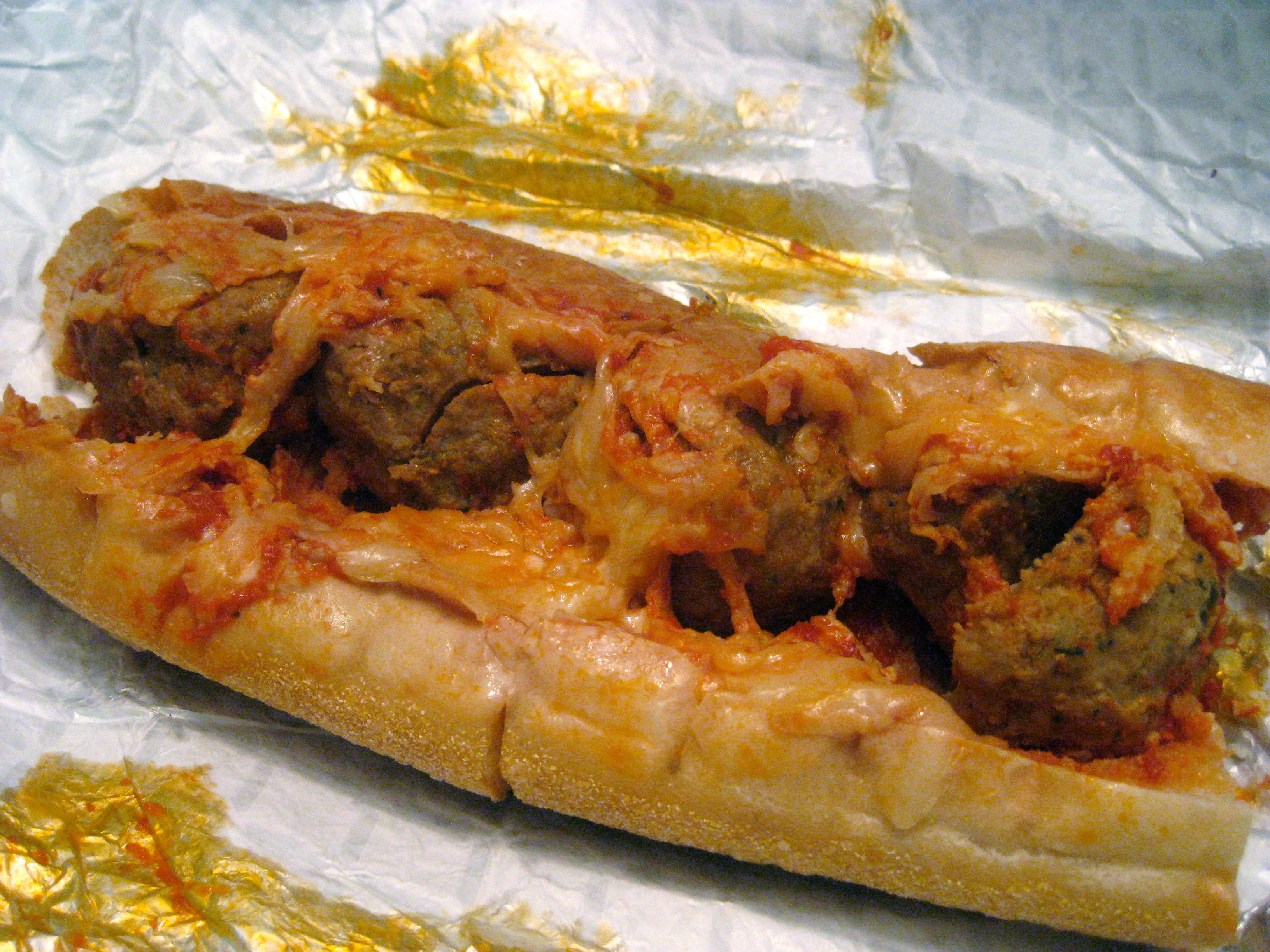 The award-winning meatball sub from Pastifico in Philly. Photo by Jamie.