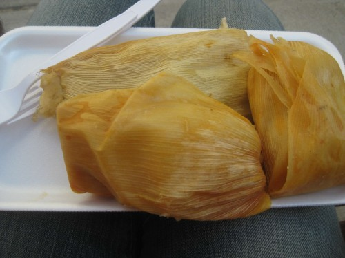 hot tamales from los amigos meat market midtown lunch