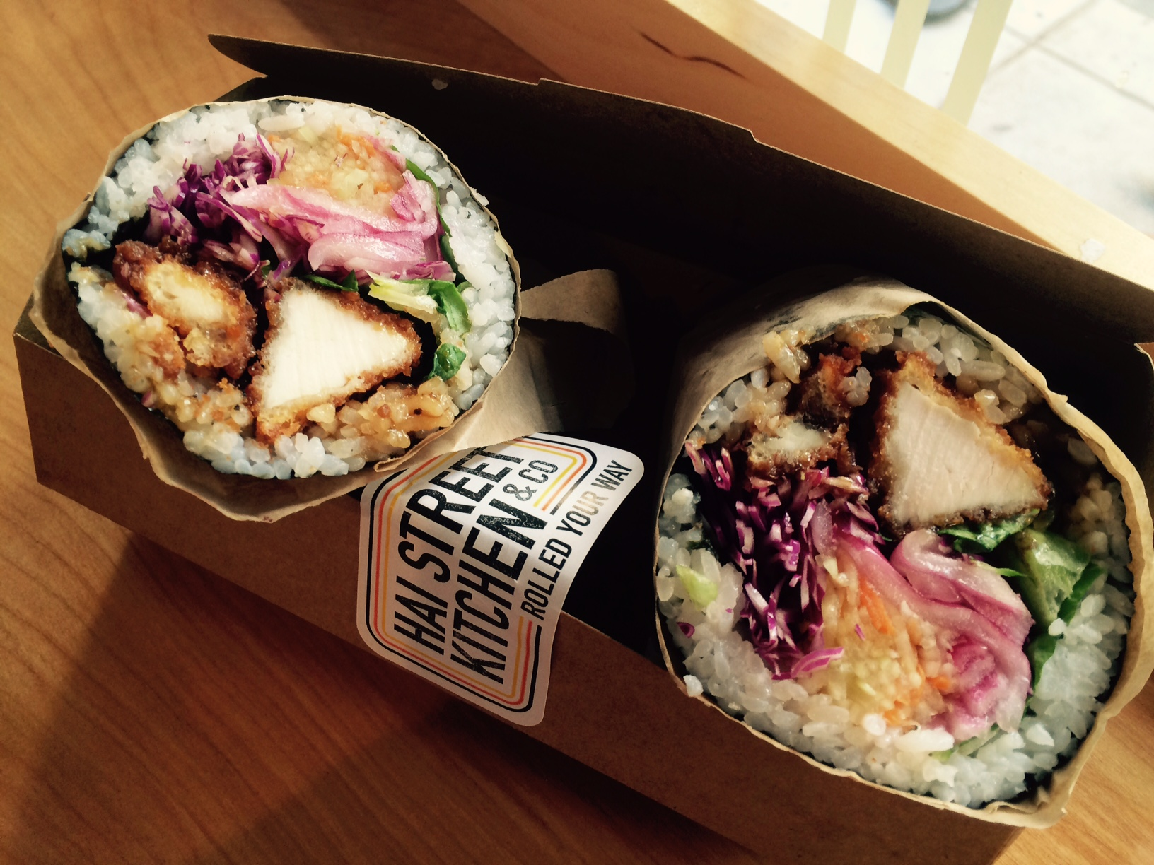 fried sushi burritos + a free lunch at hai street kitchen